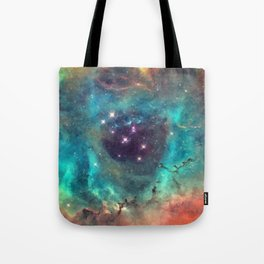 Colorful Nebula Galaxy Tote Bag