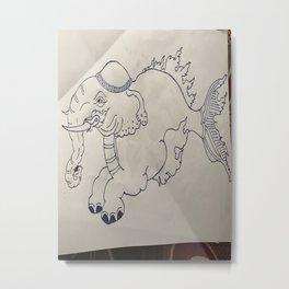 Bhoeda :olifant Metal Print