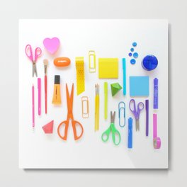 A Work Space Rainbow Metal Print