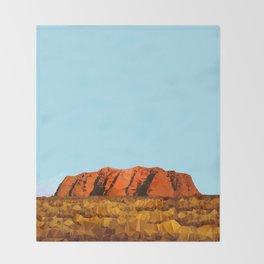 uluru polygon Throw Blanket