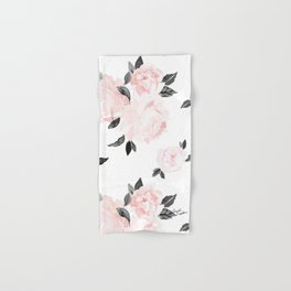 Vintage Blush Floral - BW Hand & Bath Towel
