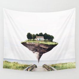 Floating Island Wall Tapestry