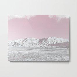 Mojave Snowcaps // Las Vegas Nevada Snowstorm in the Red Rock Canyon Desert Landscape Photograph Metal Print