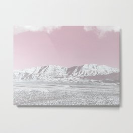 Mojave Snowcaps // Las Vegas Nevada Snowstorm in the Red Rock Canyon Desert Landscape Photograph Metal Print