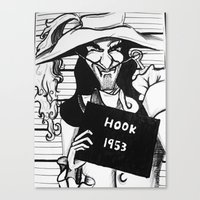 captain hook Canvas Prints featuring Captain Hook by Gabrielle Wall