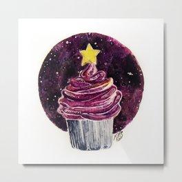 Galaxy Cupcake Birthday Card Metal Print