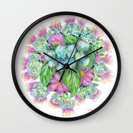 Spring Menagerie Wall Clock