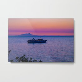 Cruise Ship at dusk Metal Print