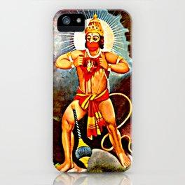 Hanuman showing Rama in His heart iPhone Case