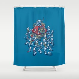 Blue Horde Shower Curtain