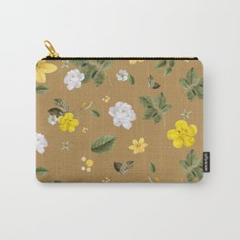 Yellow Flowers & White Roses 3 Carry-All Pouch