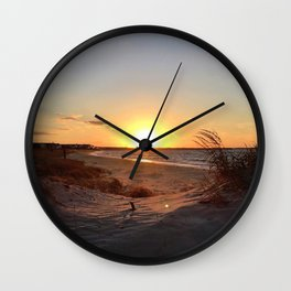 Off-Season Sunsets Wall Clock