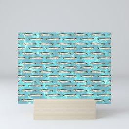 Sardines in the pool Mini Art Print