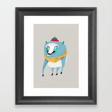 Bear with Hat Framed Art Print