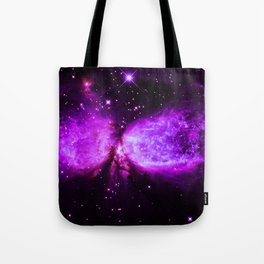 Space Galaxy : A star is born Purple Tote Bag