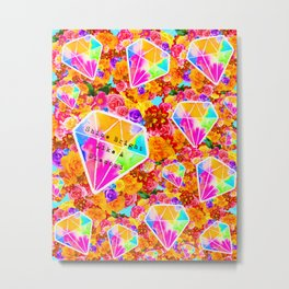 Shine Bright Like A Diamond Collage Metal Print