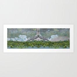 Tree Clouds World Art Print