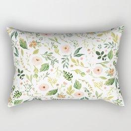 Botanical Spring Flowers Rectangular Pillow
