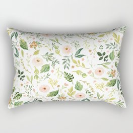 Botanical Spring Flowers Rectangular Pillow