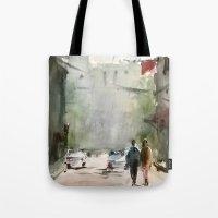 street Tote Bags featuring Street by Baris erdem