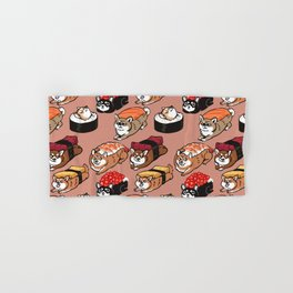 Sushi Shiba Inu Hand & Bath Towel