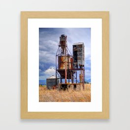 Old Rusted Grain Silo - Cache Valley - Utah Framed Art Print