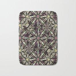 Luxury Dark Floral Pattern Bath Mat