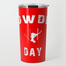 Powder Day Red Travel Mug
