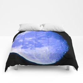 Icy Blue Moon Comforters