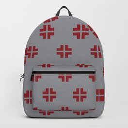 Scandinavian / Grey + Red Backpack