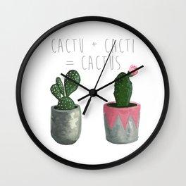 Cactu + Cacti = Cactus Wall Clock