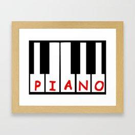 Piano Font Framed Art Print