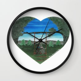 Sunset Sweethearts - Scotties - Scottish Terriers Wall Clock