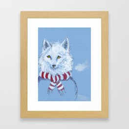 Winter Wolf Framed Art Print