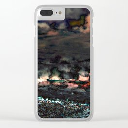 Hawaii Sugar Cane Fires Abstract Clear iPhone Case