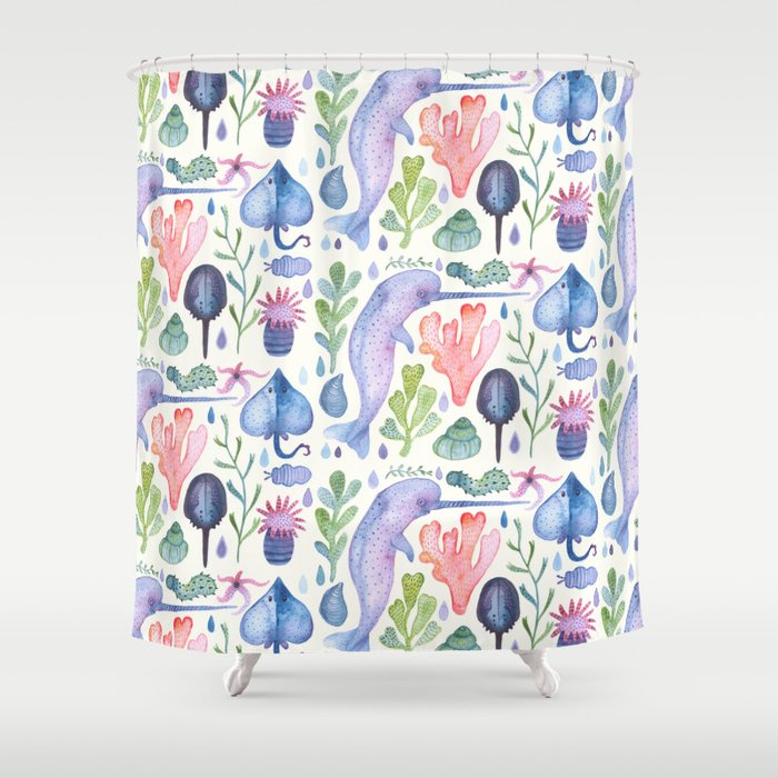 Sea Life Shower Curtain By Vladimirstankovic