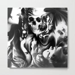 Sin and smoke Metal Print