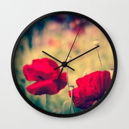 Keokea Poppy Dreams Wall Clock
