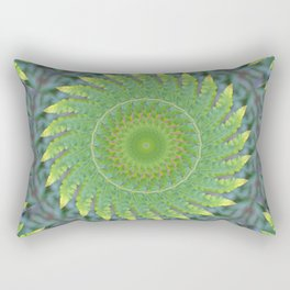 Palm Frond Kaleidoscope Rectangular Pillow