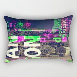 GLITCH CITY #24: Yangon Rectangular Pillow