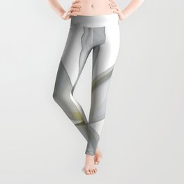 A Single Plumeria Flower Isolated Leggings