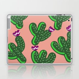 Prickly Cactus with Purple Flowers Laptop & iPad Skin