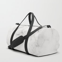 Classic Warm White Marble with Delicate Veins Duffle Bag