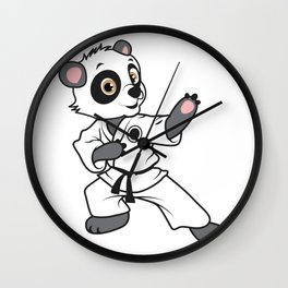 MMA panda bear karate competition kung fu gift Wall Clock