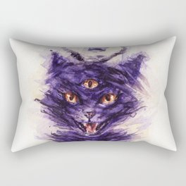 threeeyed cat Rectangular Pillow