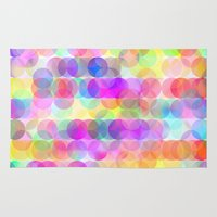 bubbles Area & Throw Rugs featuring Bubbles by Ornaart