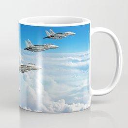Silver on Blue Coffee Mug