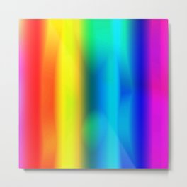 Rainbow Glowing Metal Print