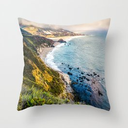 Big Sur First Light Throw Pillow
