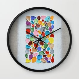 Mosaic Polka Daubs Wall Clock